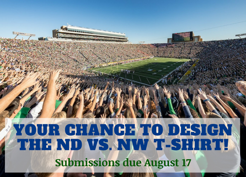 T-Shirt Contest: ND vs. Northwestern Game